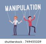 string manipulation puppet... | Shutterstock .eps vector #749455339