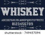 vintage font handcrafted vector ... | Shutterstock .eps vector #749457094