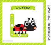 letter l uppercase cute... | Shutterstock .eps vector #749460244