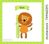 letter l lowercase cute... | Shutterstock .eps vector #749460391