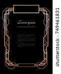 vintage linear border....   Shutterstock .eps vector #749461831
