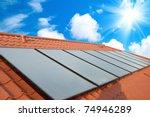 solar water heating system on...   Shutterstock . vector #74946289
