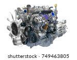 car engine isolated on white... | Shutterstock . vector #749463805