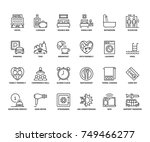 line icons about hotel.... | Shutterstock .eps vector #749466277