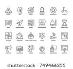 line icons about business... | Shutterstock .eps vector #749466355