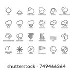 line icons about the weather.... | Shutterstock .eps vector #749466364