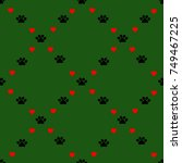 Holiday Dog Paws Background...