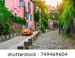 view of old street in quarter... | Shutterstock . vector #749469604