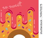 glazed colorful donut. so sweet ...   Shutterstock .eps vector #749470375
