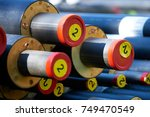 district heating   insulated... | Shutterstock . vector #749470549