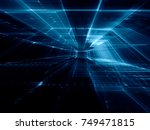 abstract blue toned background... | Shutterstock . vector #749471815