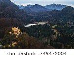 hohenschwangau castle on a... | Shutterstock . vector #749472004