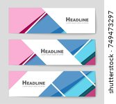 abstract vector layout... | Shutterstock .eps vector #749473297