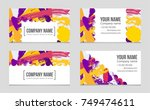 abstract vector layout... | Shutterstock .eps vector #749474611