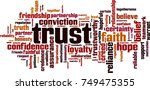 trust word cloud concept.... | Shutterstock .eps vector #749475355
