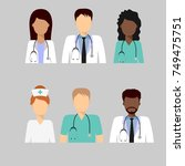 medical characters flat people. ... | Shutterstock .eps vector #749475751