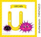 letter u uppercase cute... | Shutterstock .eps vector #749476315