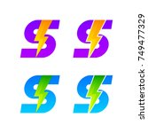 letter s logotype set with... | Shutterstock .eps vector #749477329
