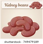 kidney beans icon. cartoon... | Shutterstock .eps vector #749479189