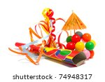 colorful party accessories with ... | Shutterstock . vector #74948317