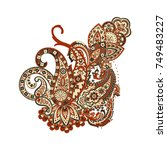 indian  persian paisley...   Shutterstock .eps vector #749483227