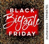 abstract vector black friday...   Shutterstock .eps vector #749484781