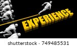 experience leader with a man...   Shutterstock . vector #749485531
