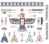 Tribal Thunderbird Elements