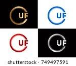 uf logo. letter design vector... | Shutterstock .eps vector #749497591
