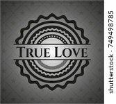 true love dark badge | Shutterstock .eps vector #749498785