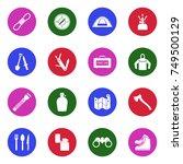 survival kit icons. white flat...   Shutterstock .eps vector #749500129