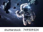 science fiction space wallpaper ... | Shutterstock . vector #749509324