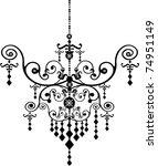 chandelier | Shutterstock .eps vector #74951149