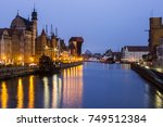 views of the old city of gdansk ... | Shutterstock . vector #749512384