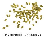 pumpkin seeds isolated on white ... | Shutterstock . vector #749520631