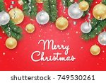 christmas and new year... | Shutterstock .eps vector #749530261