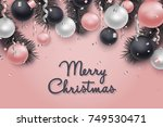 christmas and new year... | Shutterstock .eps vector #749530471