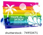 tropical beach party background ... | Shutterstock .eps vector #74953471
