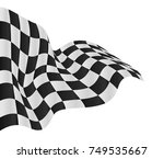 checkered flag background... | Shutterstock .eps vector #749535667