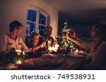 three generation family... | Shutterstock . vector #749538931