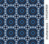 round seamless pattern ornament ... | Shutterstock .eps vector #749539909