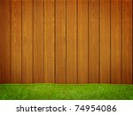 wood fence with green grass | Shutterstock . vector #74954086