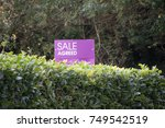 Small photo of An estate agent's sale agreed sign in the countryside