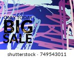 big sale advertisement banner... | Shutterstock .eps vector #749543011