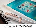 bangkok  thailand   nov 07 ... | Shutterstock . vector #749546461