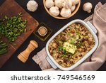 vegetarian rice casserole with... | Shutterstock . vector #749546569