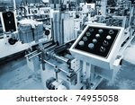 control panel of the equipment... | Shutterstock . vector #74955058