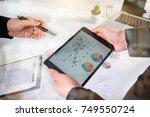 business team meeting. photo...   Shutterstock . vector #749550724