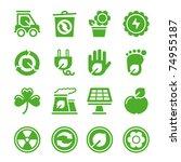 green environmental icons | Shutterstock .eps vector #74955187