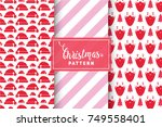 seamless christmas patterns.... | Shutterstock .eps vector #749558401